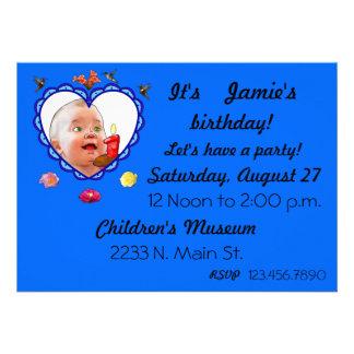 One Year Old Birthday Custom Announcements