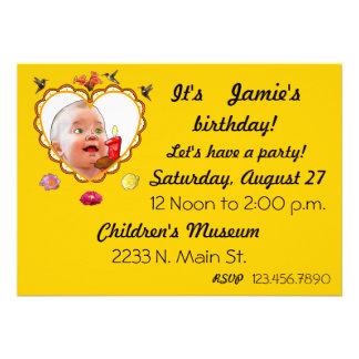 One Year Old Birthday Invitation