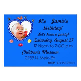 "One Year Old Birthday 5"" X 7"" Invitation Card"