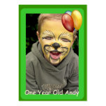 One Year Old Birthday Photo Cards Pack Of Chubby Business Cards