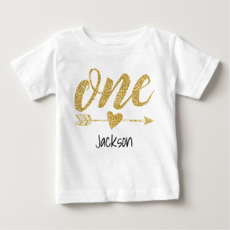 One Year Old Personalized Baby T-Shirt