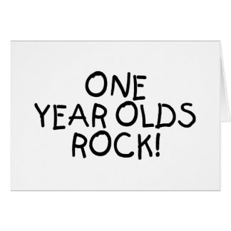 One Year Olds Rock (Black) Card