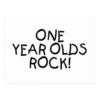 One Year Olds Rock (Black) Postcard