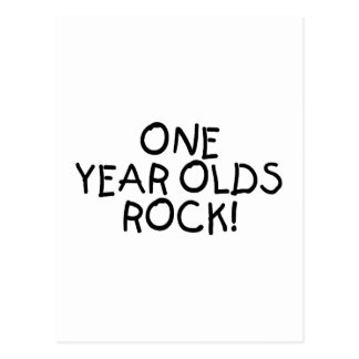 One Year Olds Rock (Black) Postcard