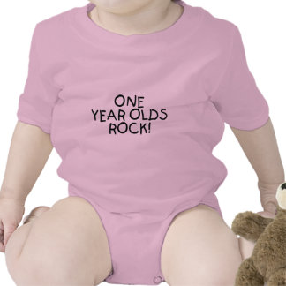 One Year Olds Rock (Black) T Shirt