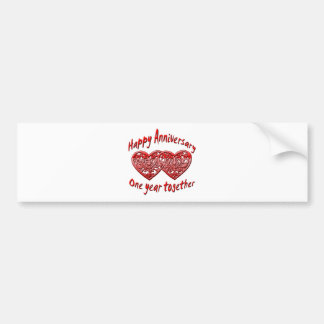 One Year Together Bumper Sticker