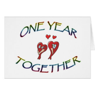 ONE YEAR TOGETHER CARD