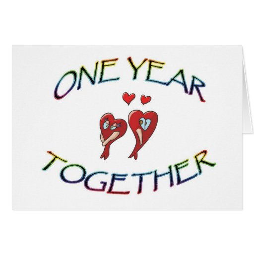 ONE YEAR TOGETHER CARDS