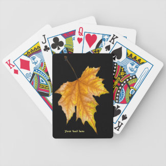 One Yellow and Gold Maple Leaf Bicycle Playing Cards