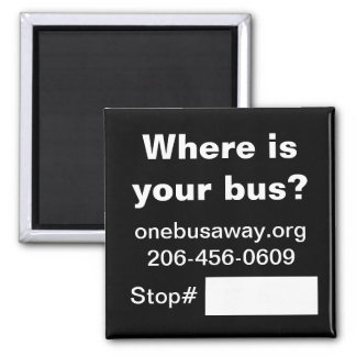 OneBusAway promotional magnet