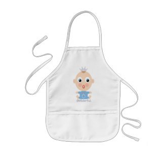 ONEderful BABY Face - blue Aprons