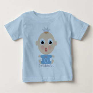 ONEderful BABY Face - blue Baby T-Shirt