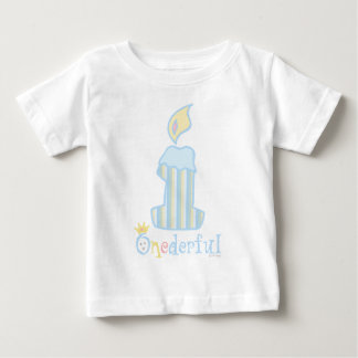 ONEderful Blue Candle Baby T-Shirt
