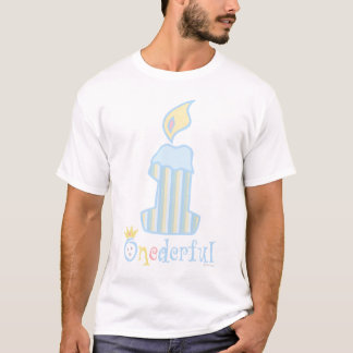 ONEderful Blue Candle T-Shirt