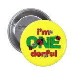 ONEderful Ladybug 1st Birthday Pinback Button