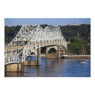 O'Neil Bridge on Tennessee River, Florence, Photographic Print
