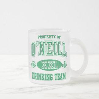 O'Neil Irish Drinking Team Frosted Glass Coffee Mug