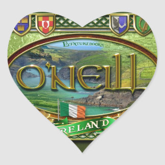 O'Neill Family Banner Heart Sticker