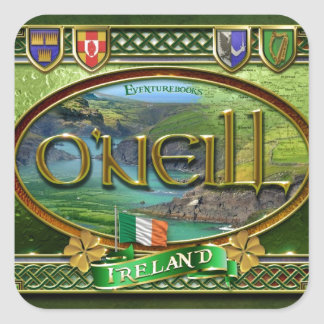 O'Neill Family Banner Square Sticker