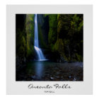 Oneonta Falls in Oregon poster, customisable title Poster