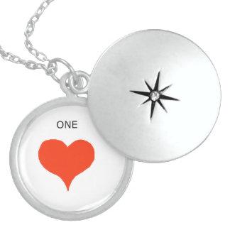 """One's Heart"" ever! Locket! Round Locket Necklace"