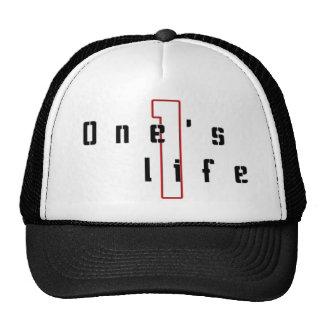 One's life logographic cap trucker hat