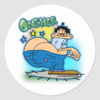 Ongher Bumble Butt urban style Round Sticker