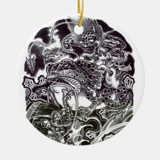 Oni Devils and Toad Christmas Tree Ornaments