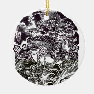Oni Devils and Toad Round Ceramic Decoration