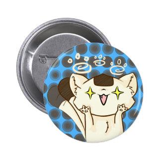 Onigiri Cat Asssault! Button (Blue)