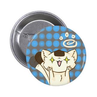 Onigiri Cat Asssault! Button (Brown)