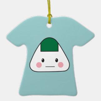 Onigiri Double-Sided T-Shirt Ceramic Christmas Ornament