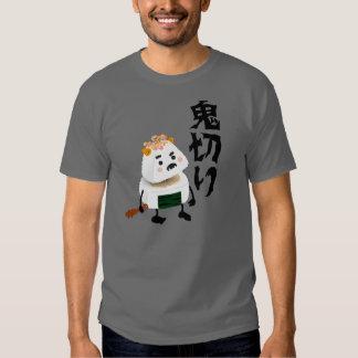 Onigiri Demon (Oni) Cut (Giri) In Half! Tshirts