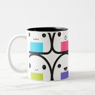 Onigiri Family Two-Tone Coffee Mug