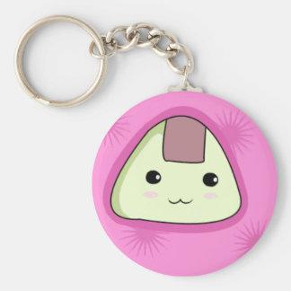 Onigiri - Pink Keychain
