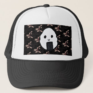 Onigiri-Sakura Night Print Trucker Hat