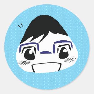 Onigiri Yuuri Round Sticker