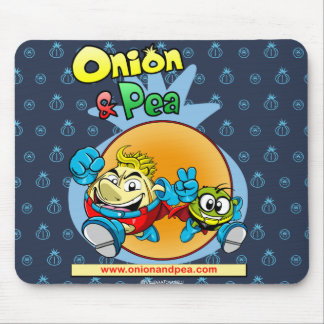Onion & blue Pea mousepad. Mouse Mat