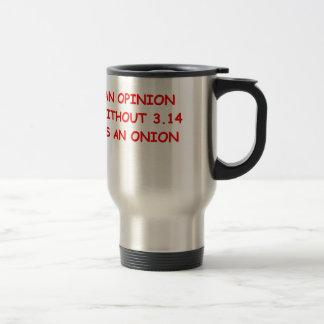 onion opinion stainless steel travel mug