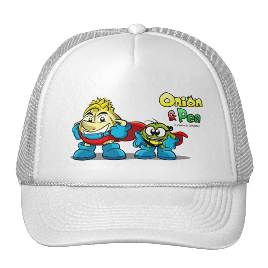 Onion & Pea characters hat. Cap