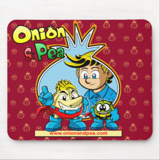 Onion & Pea mousepad. Mouse Mat