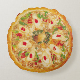 Onion Pizza Round Cushion