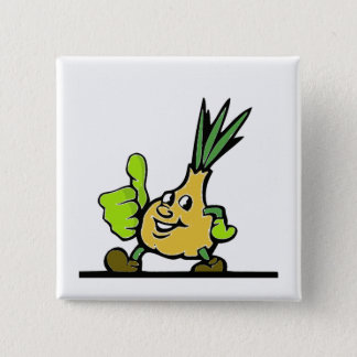 Onion With Thumbs Up 15 Cm Square Badge