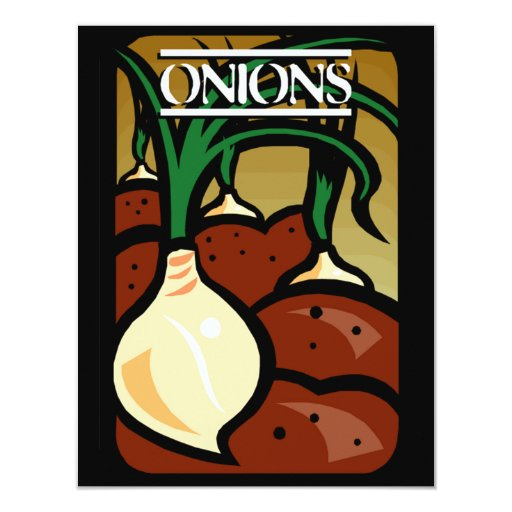 Onions 11 Cm X 14 Cm Invitation Card