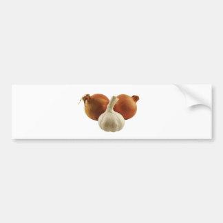 Onions and garlic bumper sticker