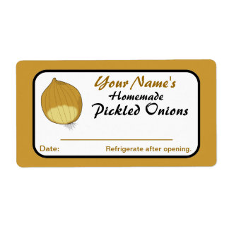 Onions Personalized Pickle Labels for Canning Jars