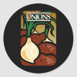 Onions Round Sticker