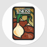 Onions Round Stickers