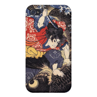 Oniwakamaru about to kill the giant carp iPhone 4 covers