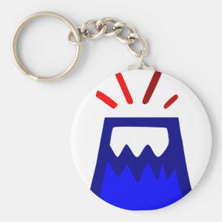 Onizuka Volcano Basic Round Button Key Ring